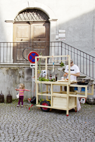 Feldkirch in Austria was our first cooking spot. The happening has started there in 2011 at Art Design Feldkirch festival. We have cooked 2-3 times a day in different city spots and then moved to another city to cook there the next day...